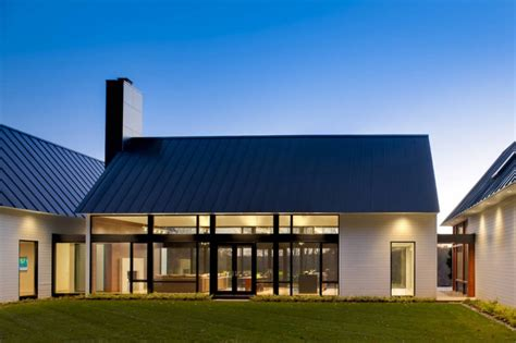 contemporary    warm country home