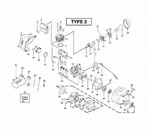 Mcculloch Mac 250 B Gt  952715682  Trimmer Engine Spare Parts Diagram