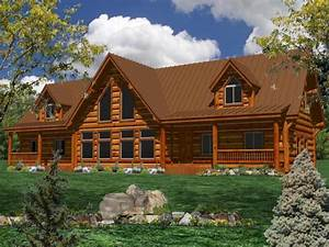 one story log home plans ranch log homes log cabin home With log home house plans designs