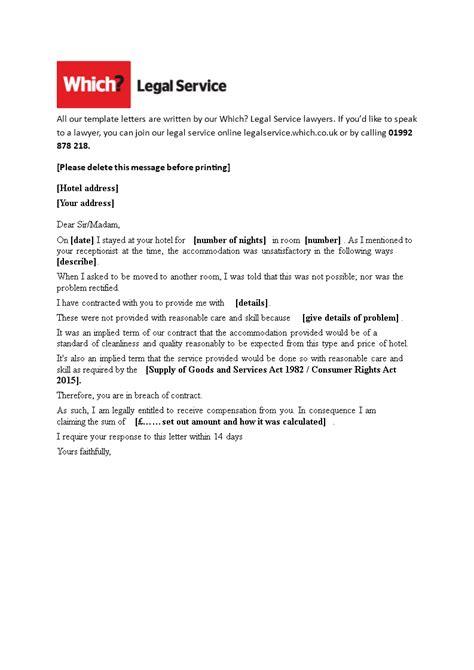 hotel guest complaint letter templates