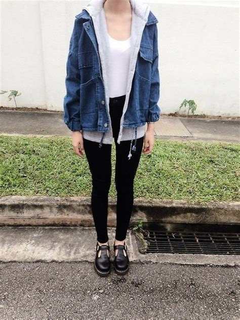Grunge Outfit Jean Jacket
