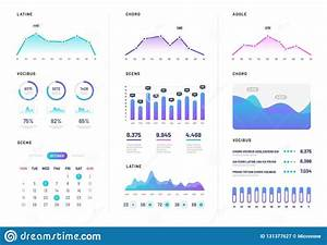 Ui Dashboard  Modern Infographic With Gradient Finance