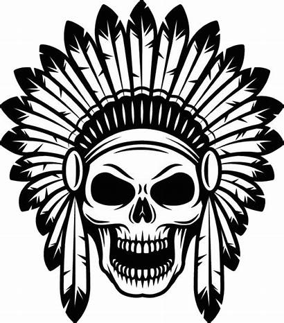 Skull American Indian Tattoo Tribal Tattoos Indians