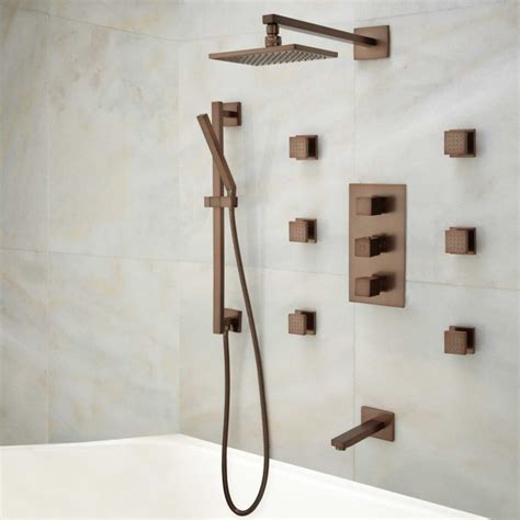 onassis thermostatic tub shower system  body sprays