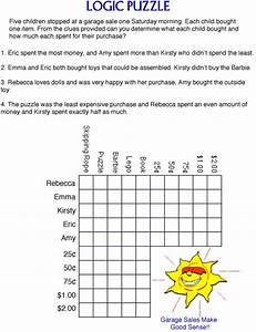 free logic puzzle worksheets Quotes