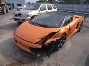 crashed lamborghini for sale salvage lamborghini gallardo 5 0l 10 2008 brookhaven ny