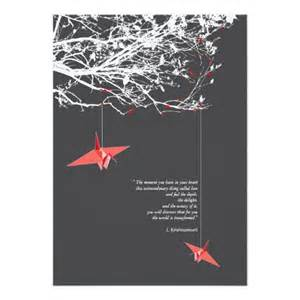 quote origami paper cranes wedding invitation
