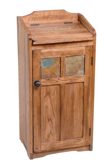 poubelle de  gallons fresno wooden trash  wooden