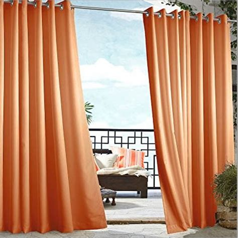 outdoor curtains orange solid outdoor curtains