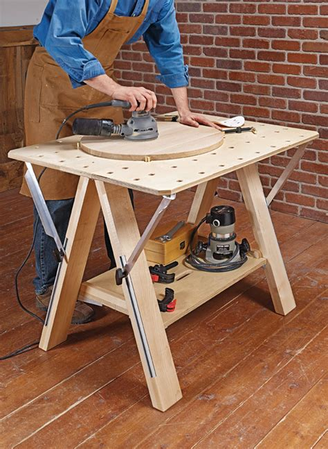 multifunctional worktable woodworking project