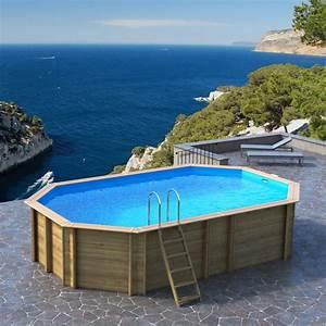 Piscine Hors Sol : piscine hors sol bois odyssea octogonale proswell ~ Melissatoandfro.com Idées de Décoration
