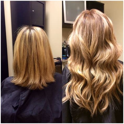 Hair Extensions Blonde Before And After Hair I Love And