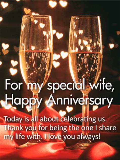 special wife happy anniversary card birthday greeting cards  davia
