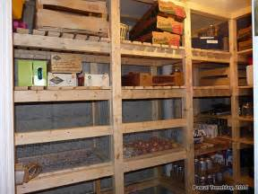 kitchen storage room ideas walk in cold room and canning room wooden vegetable bins idea