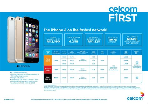 celcom iphone 6 iphone 6 plus contract plans insider