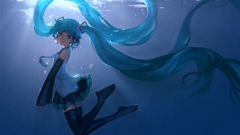 Hatsune Miku Animated Wallpaper - hatsune miku anime underwater animated wallpaper