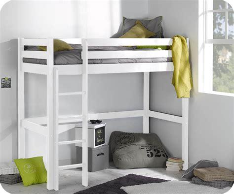 chambre avec lit mezzanine pack lit enfant mezzanine cargo blanc 90x190 cm