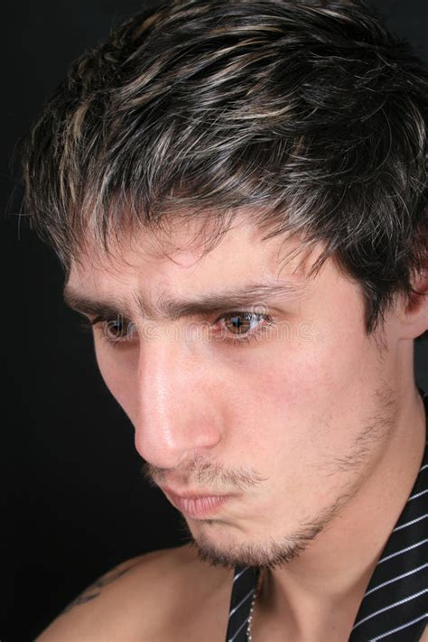 Angry face of men stock photo. Image of disturbed, dark - 16468876