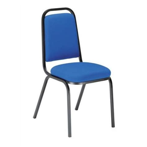 trexus banqueting chair upholstered stackable seat blue ps916