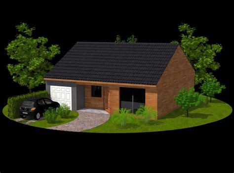 perspective 3d maisons contemporaines