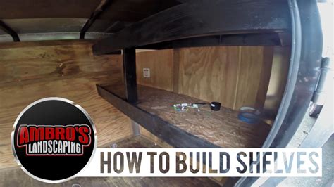 How To Build Shelving In Your Enclosed Trailer Diy Youtube