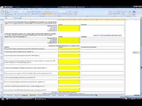 conflict minerals reporting template conflict minerals reporting template
