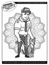 Coloring Police Officer Officers sketch template
