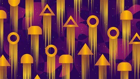 Download Wallpaper 1366x768 Pattern Geometric Shapes