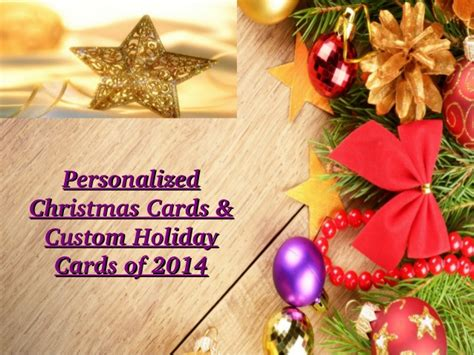 personalized christmas cards custom holiday cards of 2014