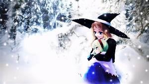 #long hair, #green hair, #looking away, #blue eyes, #anime ...