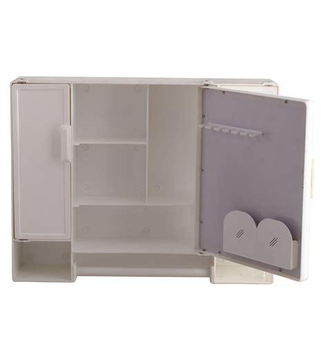 buy zahab white plastic cabinet  mirror
