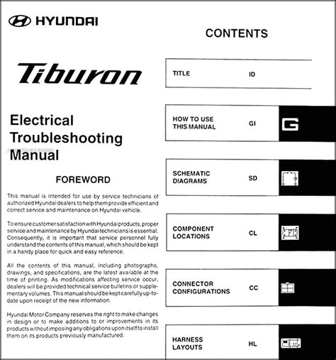 how to download repair manuals 2004 hyundai tiburon lane departure warning 2004 hyundai tiburon electrical troubleshooting manual original