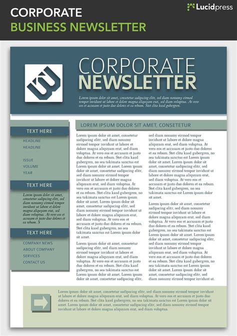 Enewsletter Template Design by Corporate Newsletter Design Newsletter Template