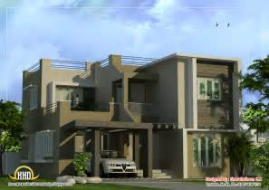 contemporary home design plans modern duplex home design 1873 sq ft indian house plans