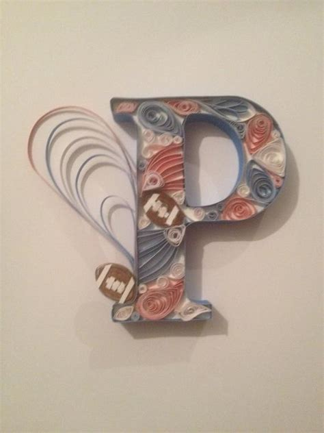 quilled letter quilled wall art monogram