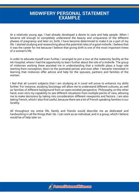 professionally written midwifery personal statement
