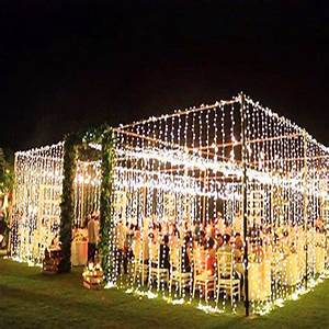 Julelys, 10m, X, 3m, 1000, Bulbs, Christmas, Led, Curtain, String, Lights, Decorations, For, Wedding, Garland
