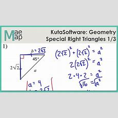 Kutasoftware Geometry Special Right Triangles Part 1 Youtube