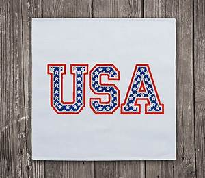 Usa letters united states embroidery design for Design letters usa
