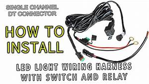 Led Light Wiring Harness With Switch And Relay Single