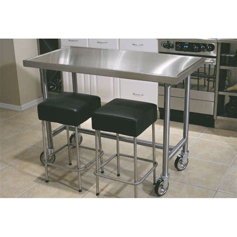 stainless steel kitchen island table best 20 stainless steel prep table ideas on