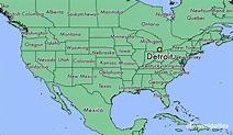 Where is Detroit, MI? / Detroit, Michigan Map - WorldAtlas.com
