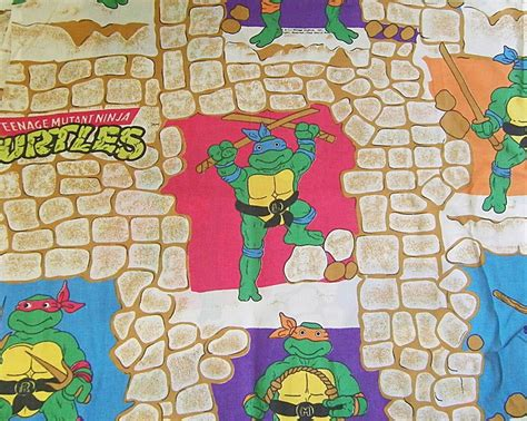 vintage teenage mutant ninja turtles bed sheet bedding
