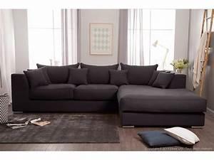 Canapé D Angle : canap d 39 angle en coton et lin d houssable edward ~ Melissatoandfro.com Idées de Décoration