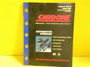 2001 Cardone Power Steering Catalog    Manual Sign 208page