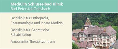 kur und rehabilitation bad peterstal griesbach mediclin