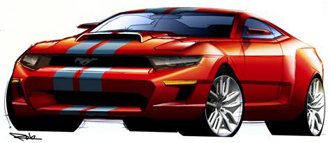 shelby gt design sketches muscle cars