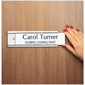 door name plates interior door nameplate holder silver hd supply