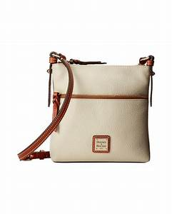 dooney bourke pebble leather letter carrier in white lyst With letter carrier products