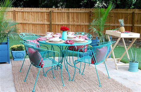 metal patio furniture paint how to paint patio furniture with chalk paint 174